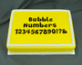 Bubble Numbers  Silicone Molds