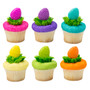 Easter Egg Cake or Cupcake Toppers ( 6 pc )
