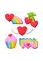 Rainbow Party Pressed Sugars
