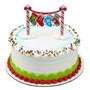 Stocking Banner Layon Cake Topper