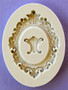 Oval Baroque Frame Silicone Mold