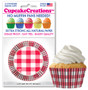 Red & White Plaid Cupcake Liners