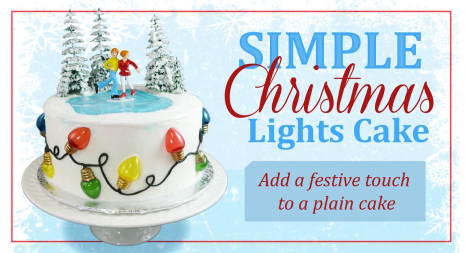 Christmas Lights Cake - Add a Festive Touch to  a Plain Cake