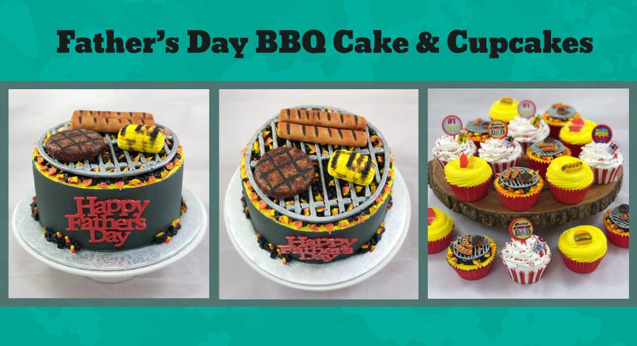 Father's Day BBQ Cake & Cupcakes