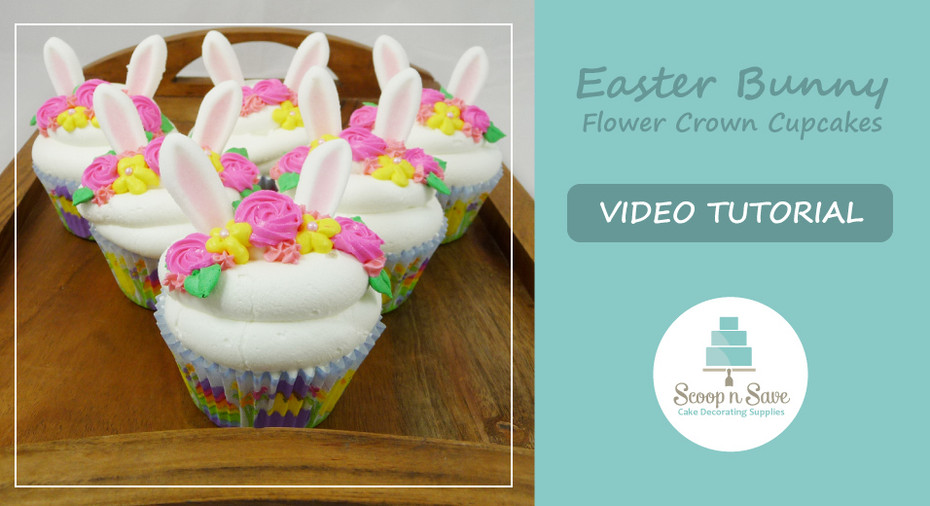 How to Make Easter Bunny with Flower Crown Cupcakes