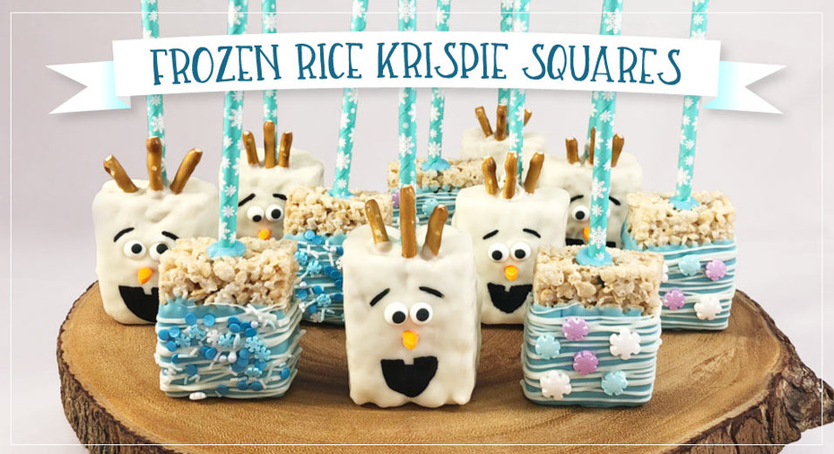 Frozen Themed Rice Krispie  Squares