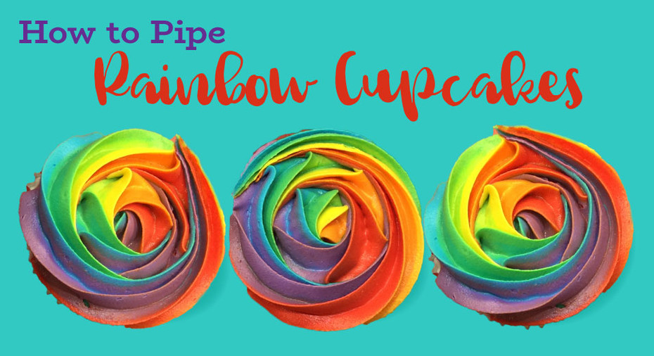 How Do You Get a Rainbow of Colours into a Piping Bag?