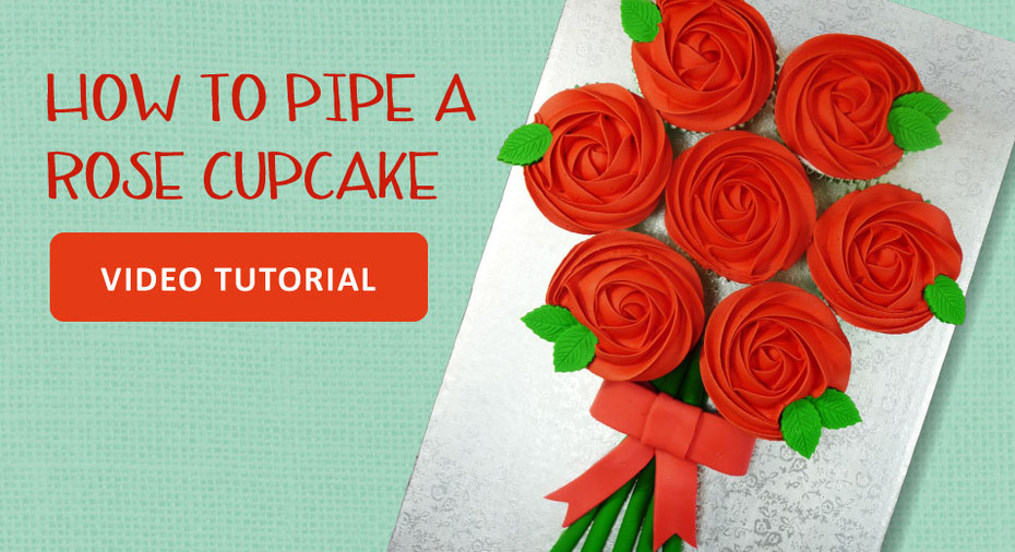 How to Pipe Bouquet of Cupcake Roses