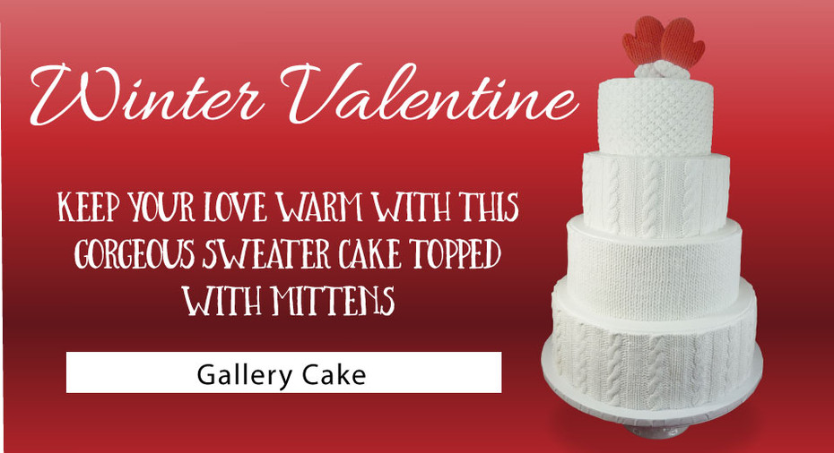 Winter Valentine (Sweater & Mittens) Cake