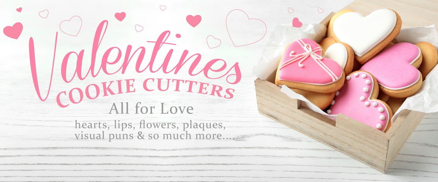 vValentine heart-shaped cookies - cookie cutters