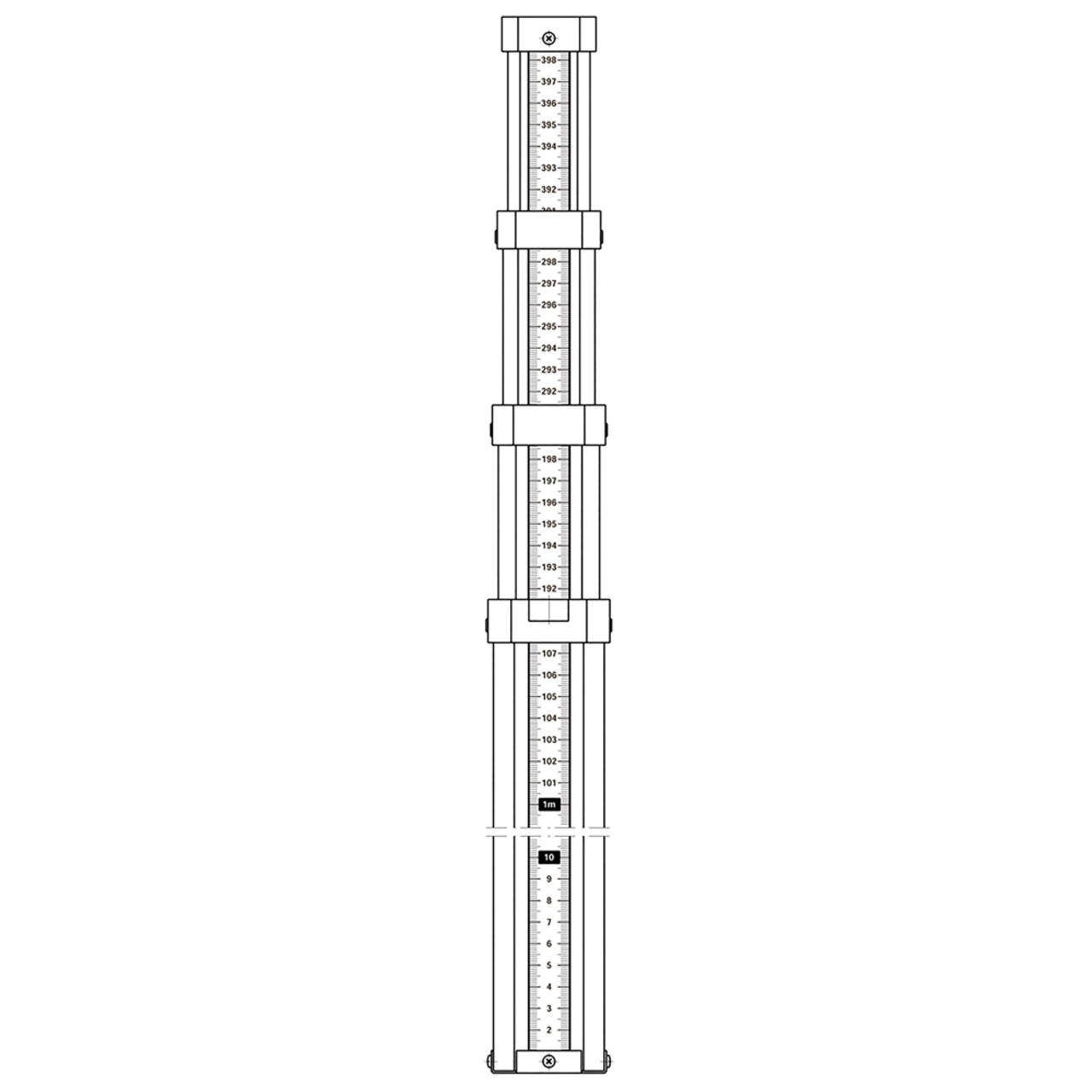 Telescopic Levelling Staff 5m (345122-637)
