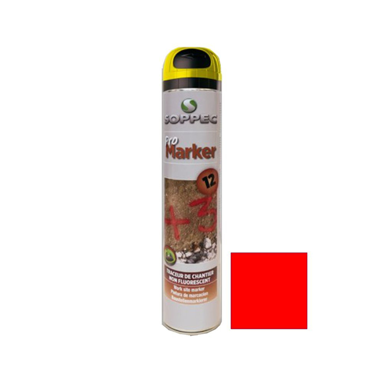 Soppec Spray Paint Promarker Red 750ml (142504N)
