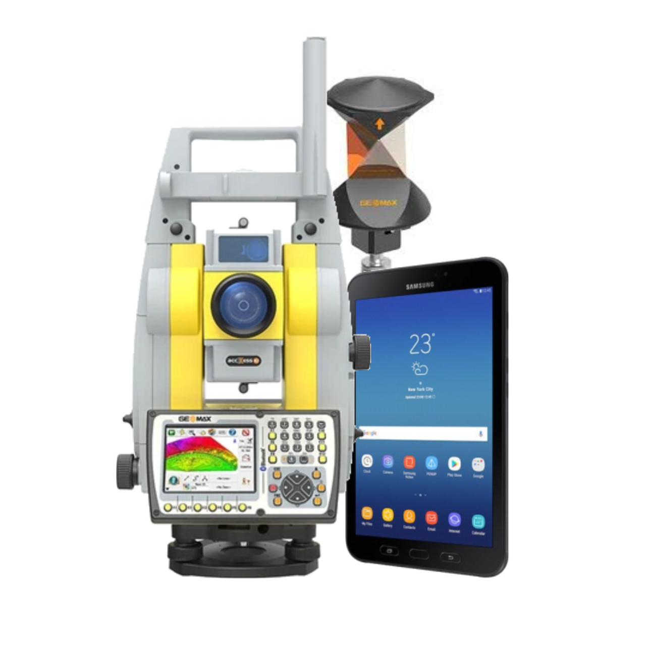 used Zoom70 total station with Samsung rugged tablet