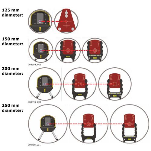 Leg 150mm For Zeta Pipe Laser (821883)