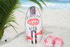"Surf City, USA Surf Sign 14"" w/ Fin - Surfing Decor Accents 