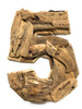 """5"" Driftwood Number 10"" Home Decor - Rustic Numerical 