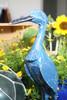 "Decorative Heron Bird 14"" Wooden - Blue Rustic Nautical Decor | #ort1705034b"