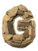 """G"" Driftwood Letter 10"" Home Decor - Rustic Accents 
