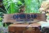 """Open Bar Tomorrow"" Driftwood Sign - 20"" - Tiki BarDecor   #snd2505850"