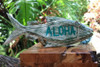 "Aloha Sign 16"" Green Rustic Fish - Coastal Decor   #snd2501840"