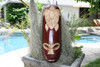 "Fijian Tiki Mask 20"" w/ Carved Turtle - Happiness | #mdr1900750"
