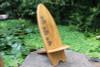 LONGBOARD SURF CHAIR HIBISCUS CARVINGS - POOL DECOR
