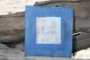 "P Nautical Alphabet Wooden Plaque 7"" X 7"" - Coastal Decor   #skn16017p"