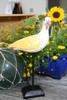 """Seagull Bird 11"""" Wooden - Rustic Yellow Decorative Coastal Accent 