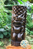 """Ocean/Fishing Tiki Sculpture 26"""" Stained - Hand Carved   #yda1100260b"""