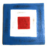 "W Nautical Alphabet Wooden Plaque 7"" X 7"" - Coastal Decor | #skn16017w"