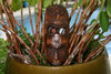 "Fijian Tiki Mask 12"" - 2 Deities Love & Happiness 