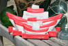 """Napkins/Mail Holder 13"""" - Rustic Red Nautical Decor 