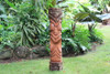 "Big Island Tiki Totem 40"" - Natural Finish - Outdoor Decor 