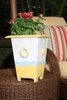 "Nautical Trash can 12"" - Wooden Vase - Coastal Decor   #ort1702530y"