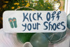 """Kick Off Your Shoes Sign 14"""" - Hawaii Decor 