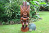 "Ku Kona-Style Tiki 48"" - Stained - Traditional Hawaii Replica 