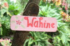 """Wahine Sign 14"""" Decorative Sign - Pink 