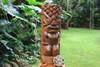 "Ocean/Fishing Tiki Sculpture 26"" - Hand Carved | Hawaii Museum | #yda1100260"