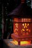 "Balinese Lantern 24"" w/ Coconut Husk Roof & Glass Siding   #tks01"