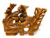 "Elegant One-Of-a-Kind Carved Leaves 26"" X 20"" X 5"" Teak Root - Centerpiece | #cin22"