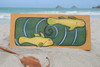 "Hawaiian Sea Bass, Koru Spiral 30"" X 15"" - Wall Art Wooden Panel   #dpt519175"
