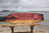 """PADDLES UP, CANOE CLUB"" SURF SIGN 40"" - OUTRIGGER SIGNS"