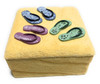 Slippers On the Beach Jewelry Keepsake Box - Hand Painted | #ih12734