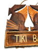 "Kissy Fish Tiki Bar Sign 15"" - Tropical Accents Antique Finish 