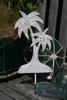 "Palm Tree Hanger 12"" - Rustic Coastal Decor   #ata1801230"