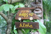 "Surf's Up, Aloha Woody Car Sign 10"" - Surf Decor 