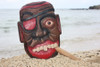 """Pirate Head Wall Plaque 12"""" w/ Cigar - Pirate Hanging Decor 