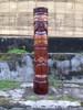 "Love Tiki Totem 40"" Antique Finish - Hand Carved | #dpt5372100"