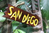 "San Diego Arrow Driftwood Sign 12"" - Tropical Decor 