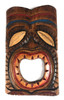 "Laughing Tiki Mask 8"" - Wall Plaque Hand Carved 